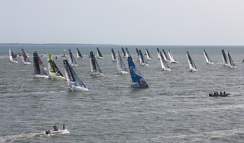 The start of the 52nd La Solitaire du Figaro in which Ireland's Tom Dolan is competing for the fourth time