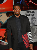 """Chadwick Boseman at the world premiere for """"Star Wars: The Last Jedi"""" at the Shrine Auditorium. Los Angeles, USA 09 December  2017<br /> Picture: Paul Smith/Featureflash/SilverHub 0208 004 5359 sales@silverhubmedia.com"""