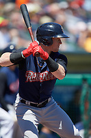 Scranton/Wilkes-Barre RailRiders left fielder Clint Frazier (5) on deck during a game against the Rochester Red Wings on June 7, 2017 at Frontier Field in Rochester, New York.  Scranton defeated Rochester 5-1.  (Mike Janes/Four Seam Images)