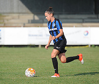 20160827 - AALTER , BELGIUM : Brugge's Kay Cuvelier pictured during the soccer match  in the 2nd round of the  Belgian cup 2017 , a soccer women game between Club Brugge and Football Club Bercheux   ,  Aalter , saturday 27 th August 2016 . PHOTO SPORTPIX.BE / DIRK VUYLSTEKE