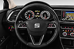 Car pictures of steering wheel view of a 2015 Seat Leon Style 5 Door Hatchback Steering Wheel