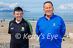 Enjoying a stroll in Banna beach on Sunday, l to r: Jerome O'Sullivan and Ger Hussey
