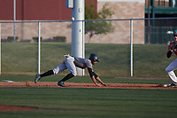 Alexander Jackson (5) of Venus High School in Venus, Texas during the Baseball Factory All-America Pre-Season Tournament, powered by Under Armour, on January 14, 2018 at Sloan Park Complex in Mesa, Arizona.  (Freek Bouw/Four Seam Images)