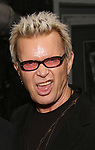 """Billy Idol backstage at """"Beetlejuice The Musical"""" on Broadway at the Winter Garden Theatre on July 30, 2019 in New York City."""