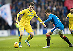 Rangers v St Johnstone…16.12.17…  Ibrox…  SPFL<br />Blair Alston takes on Declan John<br />Picture by Graeme Hart. <br />Copyright Perthshire Picture Agency<br />Tel: 01738 623350  Mobile: 07990 594431