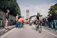 Jack Haig (AUS/Mitchelton-Scott) up the Madonna del Ghisallo (754m)<br /> <br /> 112th Il Lombardia 2018 (ITA)<br /> from Bergamo to Como: 241km