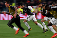 Mario Mandzukic and Emre Can of Juventus warm up ahead the Uefa Champions League 2018/2019 round of 16 second leg football match between Juventus and Atletico Madrid at Juventus stadium, Turin, March, 12, 2019 <br />  Foto Andrea Staccioli / Insidefoto