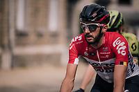 Jelle Vanendert (BEL/Lotto-Soudal)<br /> <br /> 104th Liège - Bastogne - Liège 2018 (1.UWT)<br /> 1 Day Race: Liège - Ans (258km)