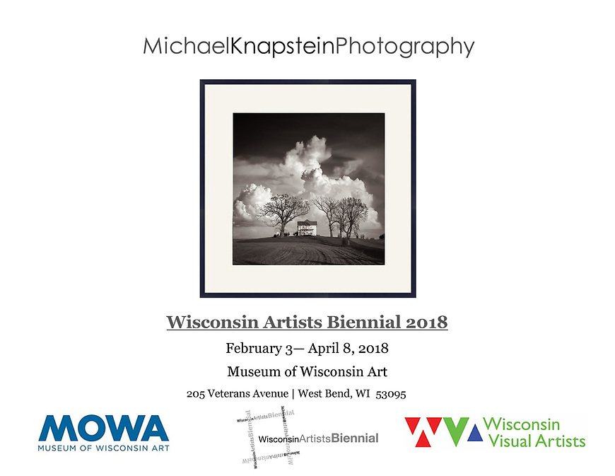 """Michael Knapstein's photograph """"After the Storm"""" was selected for the Wisconsin Artists Biennial 2018 exhibition at the Museum of Wisconsin Art in West Bend, Wisconsin. Only 42 artists were chosen for the exhibition."""