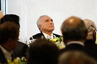 30.07.2018 - Temer participa de almoço com empresários na FIESP em SP