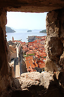Stock photos of  City wall and roof to views of Dubrovnik Croatia