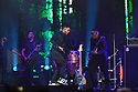 MIAMI GARDENS, FL - AUGUST 14: Romeo Santos and Max Santos of Dominican-American Bachata group Aventura performs on stage during the Inmortal Tour at Hard Rock Stadium on August 14, 2021 in Miami Gardens, Florida.  ( Photo by Johnny Louis / jlnphotography.com )
