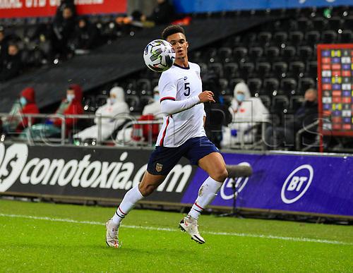 12th November 2020; Liberty Stadium, Swansea, Glamorgan, Wales; International Football Friendly; Wales versus United States of America; Antonee Robinson of USA chases a loose ball