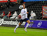 12th November 2020; Liberty Stadium, Swansea, Glamorgan, Wales; International Football Friendly; Wales versus United States of America; Antonee Robinson of USA chases a loose ball