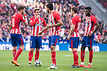 Atletico de Madrid Saul Niguez, Antoine Griezmann, Diego Costa, Gabi Fernandez and Thomas Teye during La Liga match between Atletico de Madrid and Athletic Club and Wanda Metropolitano in Madrid , Spain. February 18, 2018. (ALTERPHOTOS/Borja B.Hojas)