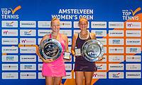 Amstelveen, Netherlands, 10 Juli, 2021, National Tennis Center, NTC, Amstelveen Womans Open, Singles final:  Winner Quirine Lemoine (NED) (R) and runner up Yana Morderger (GER)<br /> Photo: Henk Koster/tennisimages.com