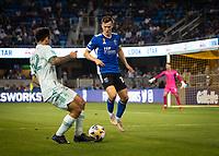 SAN JOSE, CA - SEPTEMBER 4: Tanner Beason during a game between Colorado Rapids and San Jose Earthquakes at PayPal Park on September 4, 2021 in San Jose, California.