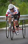 Marie-Ève Croteau, Toronto 2015 - Para Cycling // Paracyclisme.<br /> Marie-Ève Croteau competes in the Mixed T1-2 event // Marie-Ève Croteau participe à l'épreuve mixte T1-2. 08/08/2015.