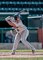 3 September 2018: Tri-City ValleyCats catcher Orlando Marquez in action against the Vermont Lake Monsters at Centennial Field in Burlington, Vermont. The Lake Monsters defeated the ValleyCats 9-6 in the last game of the 2018 NY Penn League regular season. Mandatory Credit: Ed Wolfstein Photo *** RAW (NEF) Image File Available ***
