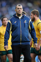 Michael Cheika, Australia Head Coach, during the QBE International match between England and Australia at Twickenham Stadium on Saturday 29th November 2014 (Photo by Rob Munro)