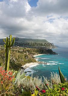 Italy, Calabria, near Tropea: coastline and beaches at Capo Vaticano
