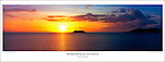 PP1170 Mamanuca Islands Sunset, Fiji Islands Poster. <br /> Size: 595mm x 210mm<br /> Available: 26 only<br /> Price: AUD$12.95 + Postage
