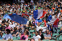 Fans enjoy the action during the iRB Marriott London Sevens at Twickenham on Sunday 13th May 2012 (Photo by Rob Munro)
