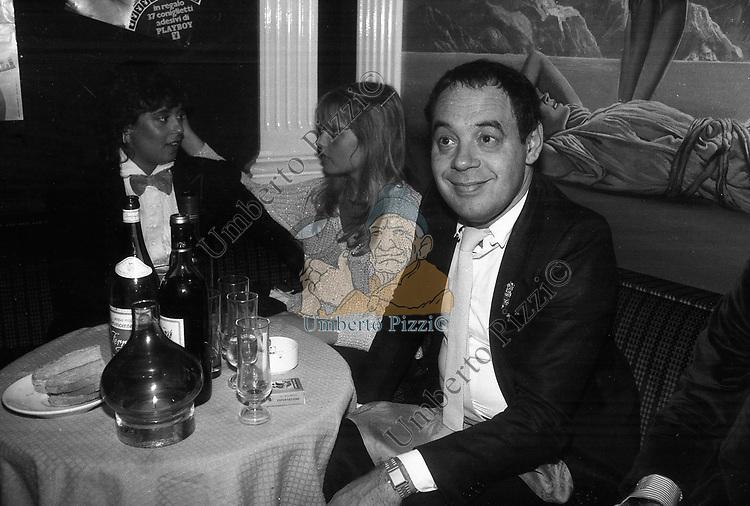 GIANNI BONCOMPAGNI CON LA FIGLIA BARBARA E ISABELLA FERRARI<br /> FESTA PER I 10 ANNI DI PLAYBOY<br /> PIPER CLUB ROMA 1980