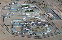 aerial photograph of the Ironwood State Prison,  near Blythe, Riverside County, California