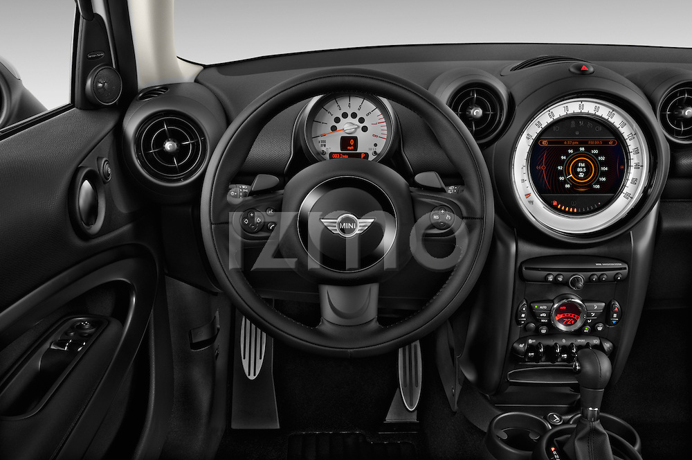 Steering wheel view of a 2013 Mini Paceman2013 Mini Paceman