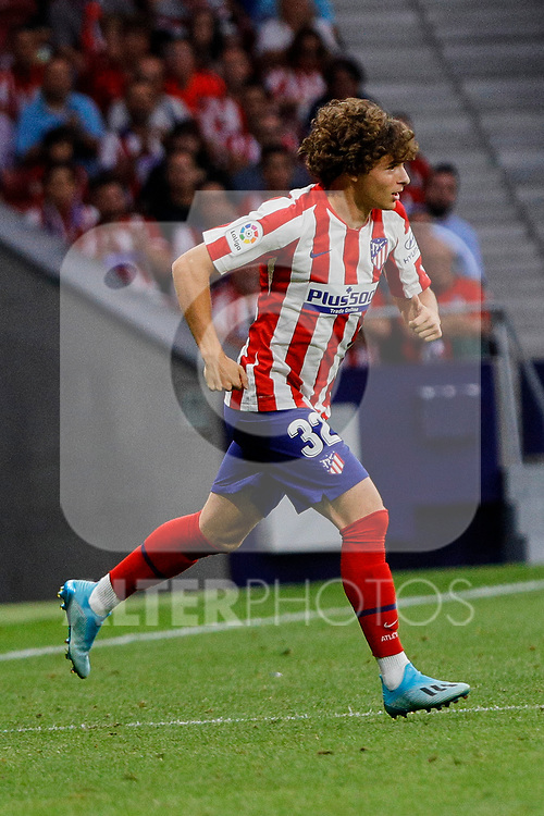 Rodrigo Riquelme of Atletico de Madrid in action during La Liga match between Atletico de Madrid and SD Eibar at Wanda Metropolitano Stadium in Madrid, Spain.September 01, 2019. (ALTERPHOTOS/A. Perez Meca)