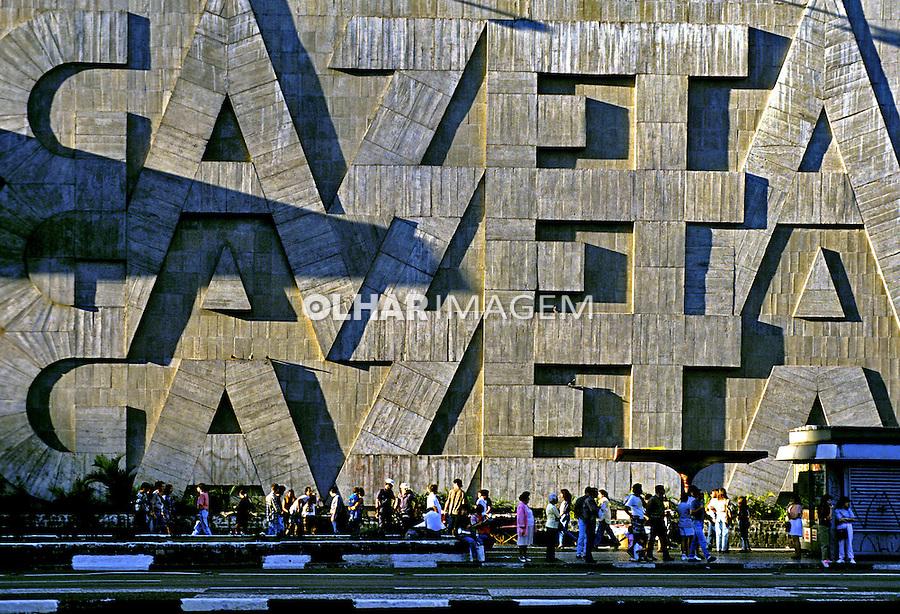 Fundação Casper Líbero na Avenida Paulista. São Paulo. 1993. Foto de Juca Martins.