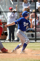 March 15, 2010:  Hal Landers of the Wheaton College Lyons in a game vs SUNY Cortland at Lake Myrtle Park in Auburndale, FL.  Photo By Mike Janes/Four Seam Images