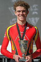 Under-17 champion Henri Lehrke (Cycling New Plymouth). 2018 NZ Age Group Road Cycling Championships in Carterton, New Zealand on Sunday, 22 April 2018. Photo: Dave Lintott / lintottphoto.co.nz