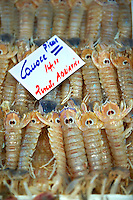Fresh Connoce prawns - Venice Rialto Fish Market