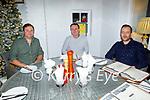 Ashley Tobin, Paul Costello and John Bulman enjoying the evening in Bella Bia on Friday.