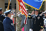 Nevada National Guard Brig. Gen. Zachary Doser, right, salutes during the National Anthem at the 2016 Flag Day & Army Birthday ceremony at the Capitol in Carson City, Nev., on Tuesday, June 14, 2016.<br />Photo by Cathleen Allison