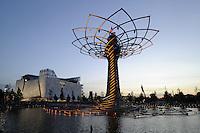 """- Milano, Esposizione Mondiale Expo 2015, padiglione italiano """"Palazzo Italia"""" e Albero della Vita, simbolo dell'Expo<br /> <br /> - Milan, the World Exhibition Expo 2015, Italian pavilion """"Palazzo Italia"""" and the Tree of Life, symbol of Expo"""