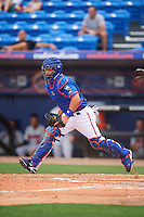 St. Lucie Mets catcher Lednier Ricardo (15) during a game against the Brevard County Manatees on April 17, 2016 at Tradition Field in Port St. Lucie, Florida.  Brevard County defeated St. Lucie 13-0.  (Mike Janes/Four Seam Images)
