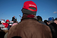 Avoca,PA USA - November 02: People attend rally for candidate Donald Trump on the last day of campaigning ion November 02, 20120 in Avoca, Pennsylvania, USA. President Donald Trump made a campaign appearance in this crucial swing state on the day before Election Day. During his speech President Trump strongly suggested again that there would likely be elelctoral fraud  in the city of Philadelphia.  (Photo by Stephen Ferry/VIEWpress)