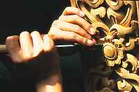 Tashi, Tibetan woodcarver.