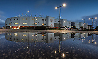 A general view of Bloomfield Road, home of Blackpool<br /> <br /> Photographer Dave Howarth/CameraSport<br /> <br /> The EFL Sky Bet League One - Blackpool v Wigan Athletic - Tuesday 3rd November 2020 - Bloomfield Road - Blackpool<br /> <br /> World Copyright © 2020 CameraSport. All rights reserved. 43 Linden Ave. Countesthorpe. Leicester. England. LE8 5PG - Tel: +44 (0) 116 277 4147 - admin@camerasport.com - www.camerasport.com