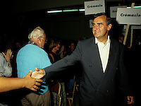 Montreal (Qc) CANADA -1994  File Photo -<br /> <br /> Lucien Bouchard, Leader Bloc Quebecois in Cremazie by-election