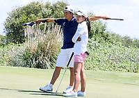 Kazuma (L) and Momoka Kabori during the New Zealand Amateur Golf Championship, Poverty Bay Golf Course, Awapuni Links, Gisborne, Friday 23 October 2020. Photo: Simon Watts/www.bwmedia.co.nz