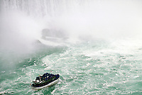 "MAID OF THE MIST"""", FAMOUS AQUATIC TOUR TO THE BASE OF THE FALLS. BOAT, CRUISE, TOURISM, WATER.. NIAGARA FALLS ONTARIO CANADA."