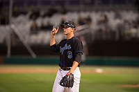 Sandra Day O'Connor Eagles third baseman Nolan Gorman (9) during a game against Mountain Ridge High School at Brazell Field at GCU on April 19, 2018 in Glendale, Arizona. Mountain Ridge defeated Sandra Day O'Connor 2-1. (Zachary Lucy/Four Seam Images)