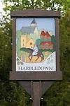 Harbledown village sign Pilgrims Way.  Canterbury Kent.