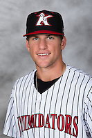 Kannapolis Intimidators third baseman Zach Remillard (23) poses for a photo prior to the game against the Charleston RiverDogs at Kannapolis Intimidators Stadium on August 3, 2016 in Kannapolis, North Carolina.  The Intimidators defeated the RiverDogs 8-4.  (Brian Westerholt/Four Seam Images)