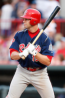 August 1, 2009:  Designated Hitter Brian Stavisky of the Reading Phillies during a game at Jerry Uht Park in Erie, PA.  Reading is the Eastern League Double-A affiliate of the Philadelphia Phillies.  Photo By Mike Janes/Four Seam Images