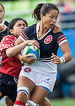 Hong Kong plays Laos during the17th Asian Games 2014 Rugby Womens Sevens tournament on September 30, 2014 at the Namdong Asiad Rugby Field in Incheon, South Korea. Photo by Alan Siu / Power Sport Images